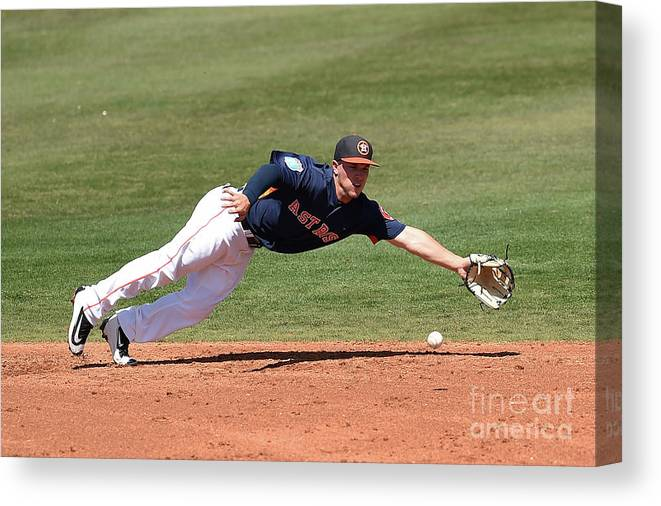Alex Bregman Canvas Print featuring the photograph Alex Bregman by Stacy Revere