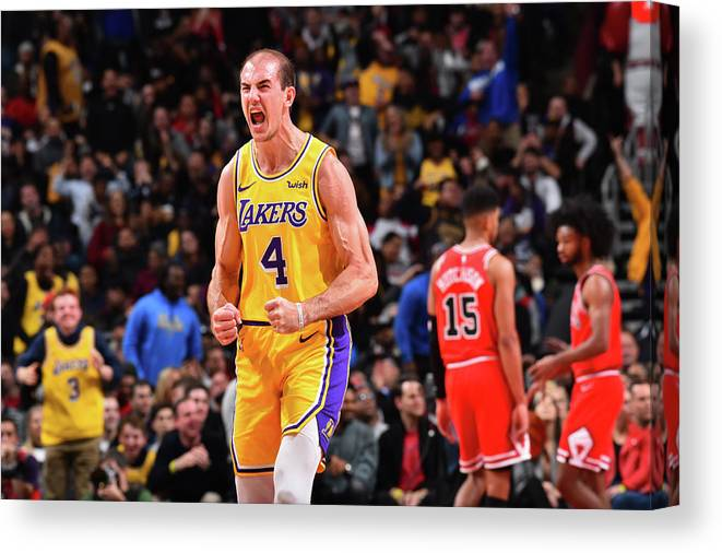 Nba Pro Basketball Canvas Print featuring the photograph Alex Caruso by Jesse D. Garrabrant