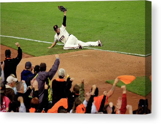 San Francisco Canvas Print featuring the photograph Alex Gordon by Rob Carr