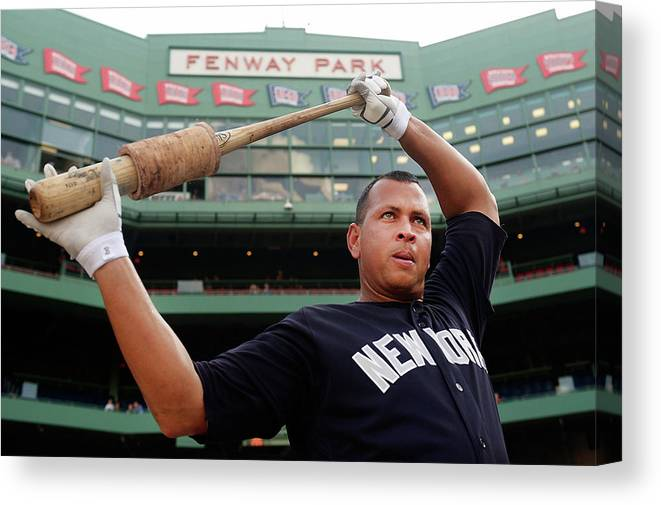 People Canvas Print featuring the photograph Alex Rodriguez by Adam Glanzman