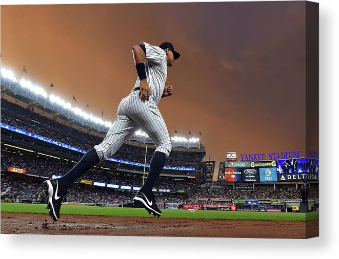 People Canvas Print featuring the photograph Alex Rodriguez by Drew Hallowell