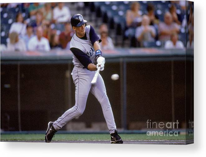 People Canvas Print featuring the photograph Alex Rodriguez by John Reid Iii