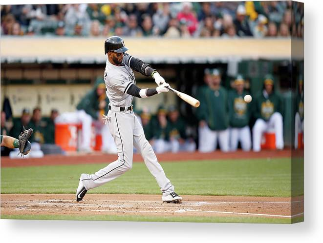 People Canvas Print featuring the photograph Alexei Ramirez by Ezra Shaw