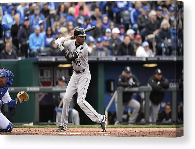American League Baseball Canvas Print featuring the photograph Alexei Ramirez by John Williamson