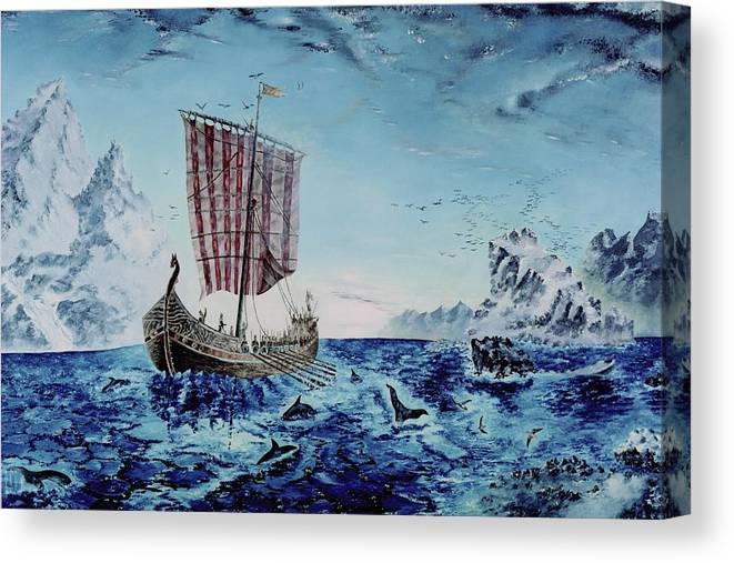 Vikings Canvas Print featuring the painting Ancient Mariner by Richard Barham