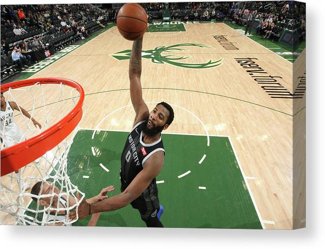 Playoffs Canvas Print featuring the photograph Andre Drummond by Gary Dineen