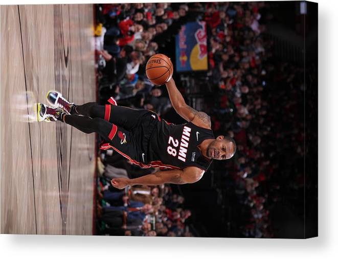 Nba Pro Basketball Canvas Print featuring the photograph Andre Iguodala by Cameron Browne