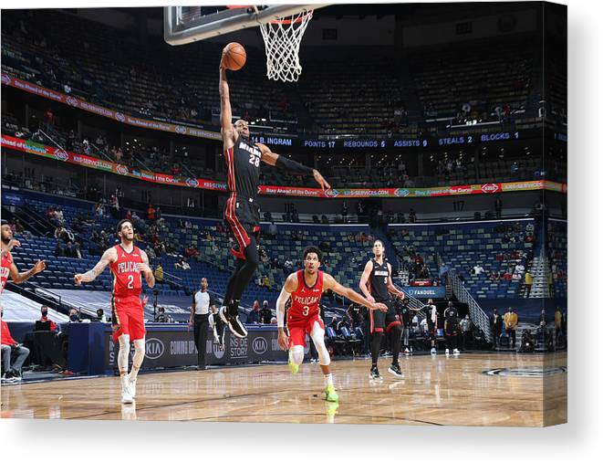 Smoothie King Center Canvas Print featuring the photograph Andre Iguodala by Layne Murdoch Jr.