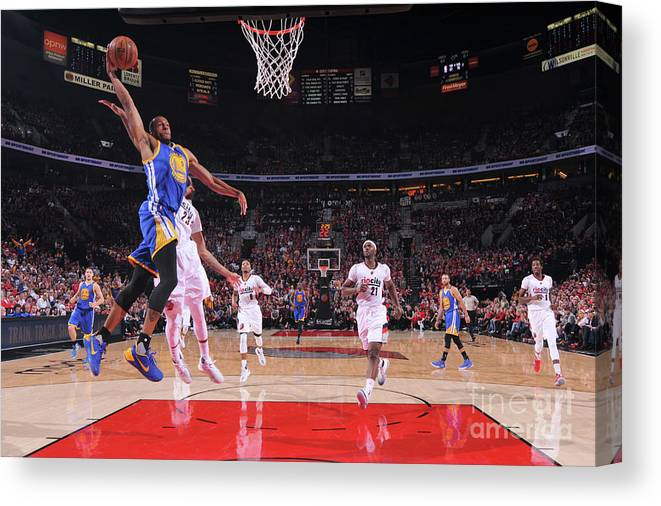 Playoffs Canvas Print featuring the photograph Andre Iguodala by Sam Forencich