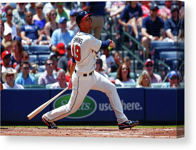 Atlanta Canvas Print featuring the photograph Andrelton Simmons by Kevin Liles