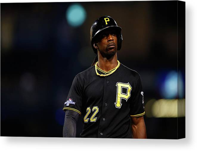 American League Baseball Canvas Print featuring the photograph Andrew Mccutchen by Justin K. Aller