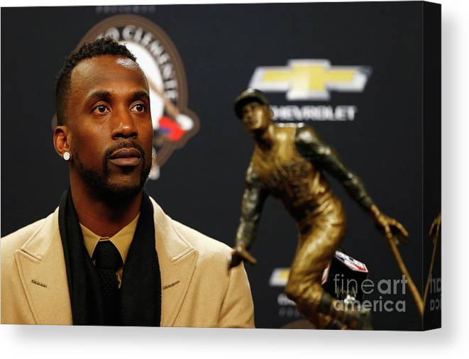 People Canvas Print featuring the photograph Andrew Mccutchen by Mike Stobe
