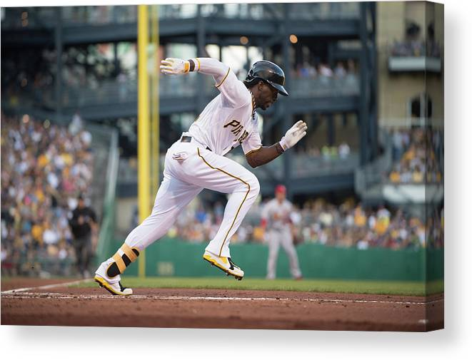 Pnc Park Canvas Print featuring the photograph Andrew Mccutchen by Rob Tringali