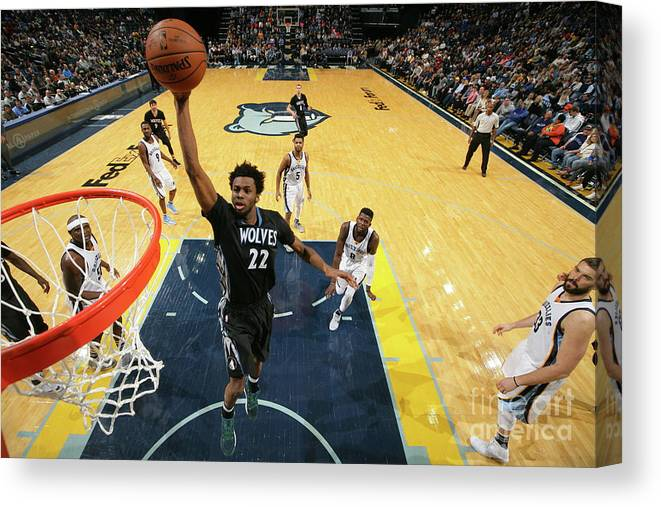 Nba Pro Basketball Canvas Print featuring the photograph Andrew Wiggins by Joe Murphy