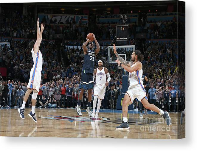 Nba Pro Basketball Canvas Print featuring the photograph Andrew Wiggins by Layne Murdoch