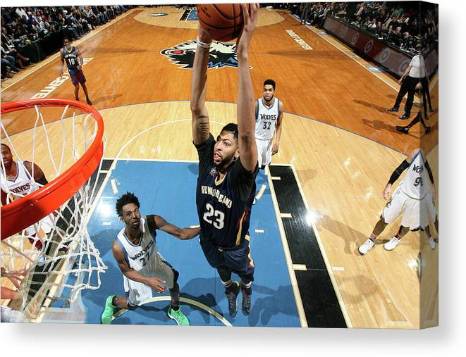 Nba Pro Basketball Canvas Print featuring the photograph Anthony Davis by David Sherman