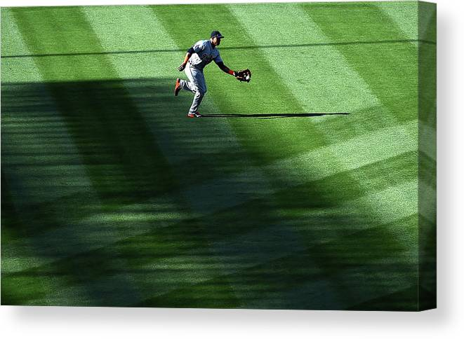 Second Inning Canvas Print featuring the photograph Anthony Gose by Harry How