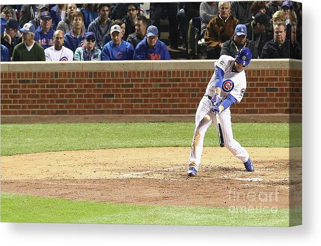 People Canvas Print featuring the photograph Anthony Rizzo by Dylan Buell