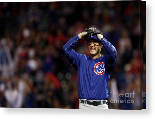 Three Quarter Length Canvas Print featuring the photograph Anthony Rizzo by Elsa