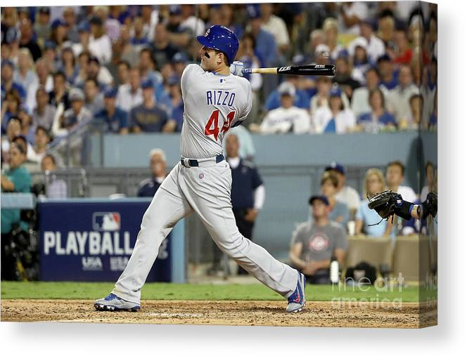 People Canvas Print featuring the photograph Anthony Rizzo by Sean M. Haffey