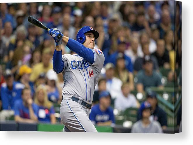 People Canvas Print featuring the photograph Anthony Rizzo by Tom Lynn
