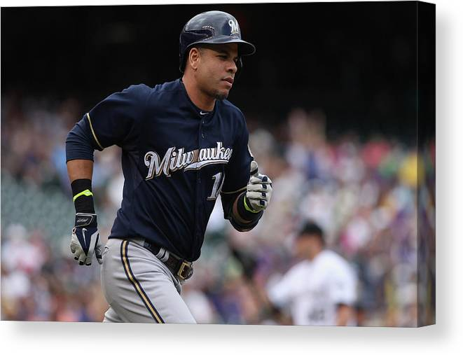Second Inning Canvas Print featuring the photograph Aramis Ramirez by Doug Pensinger