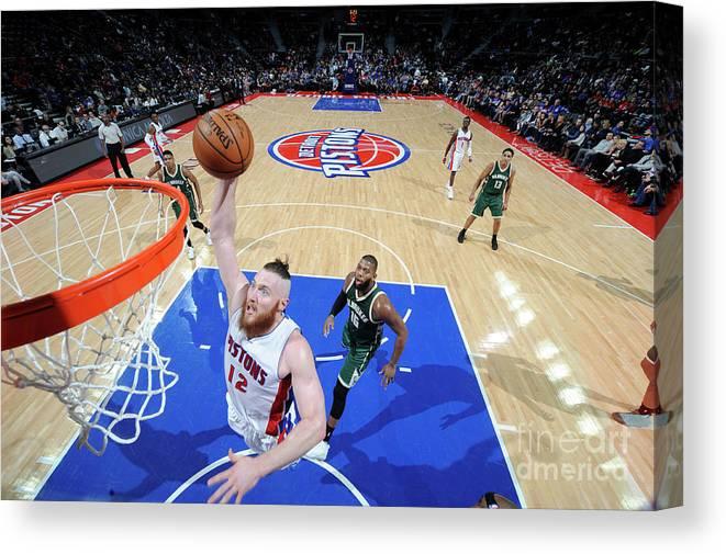 Nba Pro Basketball Canvas Print featuring the photograph Aron Baynes by Chris Schwegler