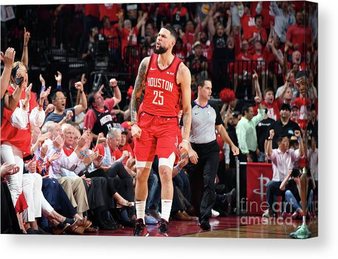Playoffs Canvas Print featuring the photograph Austin Rivers by Andrew D. Bernstein