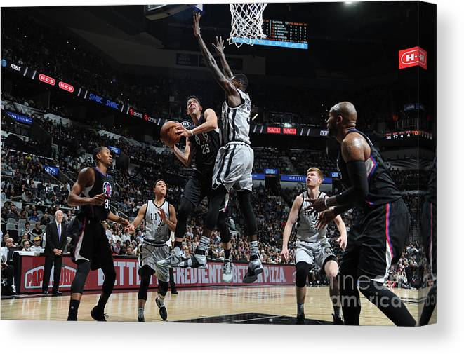 Nba Pro Basketball Canvas Print featuring the photograph Austin Rivers by Mark Sobhani