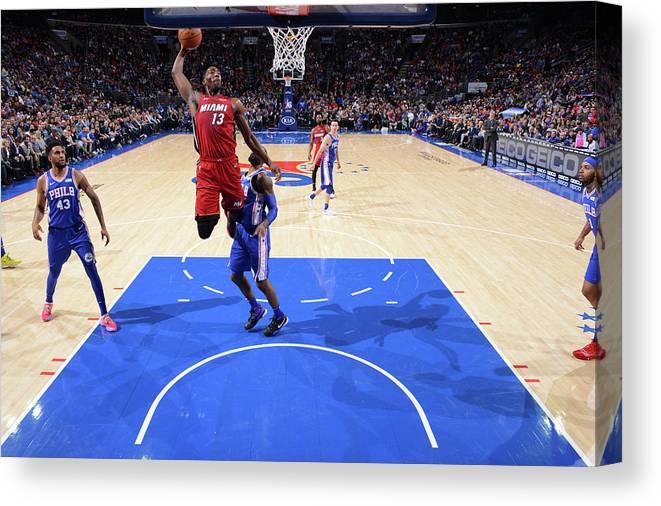 Nba Pro Basketball Canvas Print featuring the photograph Bam Adebayo by Jesse D. Garrabrant
