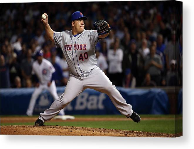 People Canvas Print featuring the photograph Bartolo Colon by Jonathan Daniel