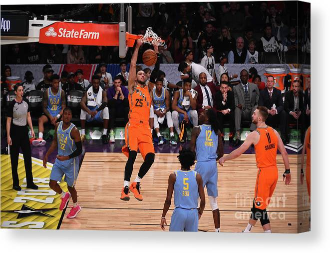 Event Canvas Print featuring the photograph Ben Simmons by Noah Graham