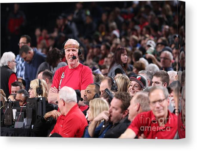 Nba Pro Basketball Canvas Print featuring the photograph Bill Walton by Sam Forencich