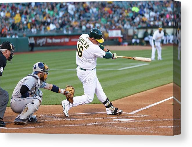 People Canvas Print featuring the photograph Billy Butler by Jason O. Watson