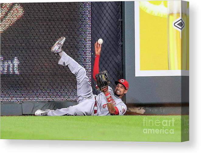 Ninth Inning Canvas Print featuring the photograph Billy Hamilton by Brian Davidson