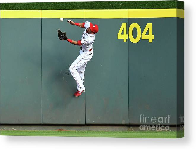 Great American Ball Park Canvas Print featuring the photograph Billy Hamilton by Jamie Sabau