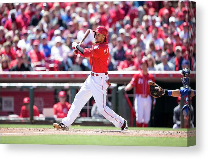 Great American Ball Park Canvas Print featuring the photograph Billy Hamilton by Taylor Baucom