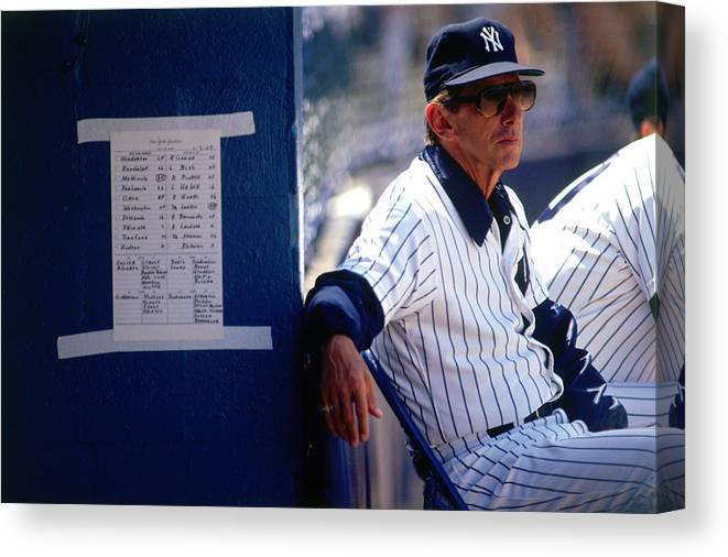 1980-1989 Canvas Print featuring the photograph Billy Martin by Ronald C. Modra/sports Imagery