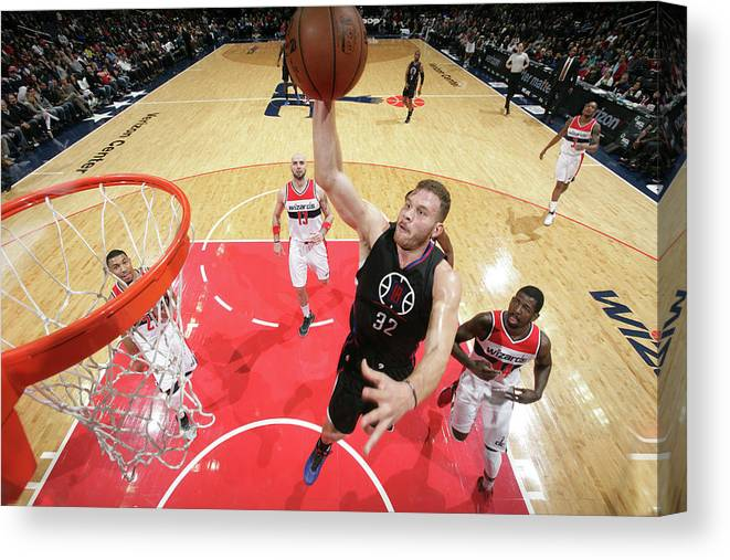 Nba Pro Basketball Canvas Print featuring the photograph Blake Griffin by Ned Dishman