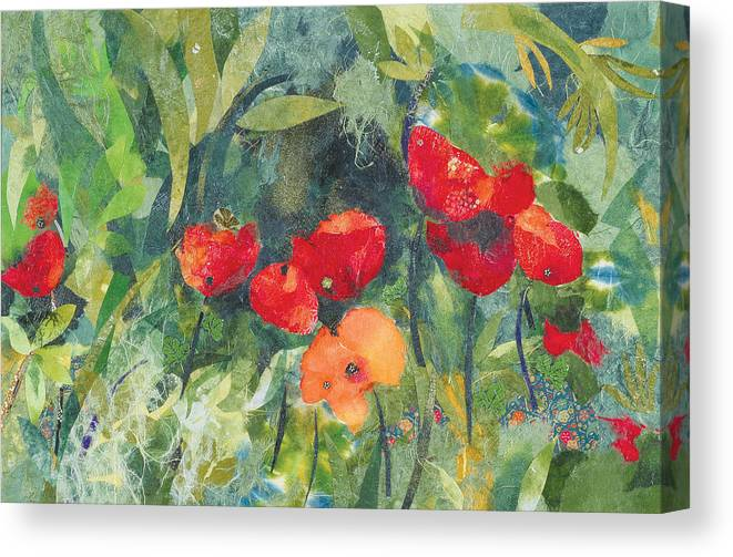 Flowers Canvas Print featuring the painting Blossom by Nira Schwartz