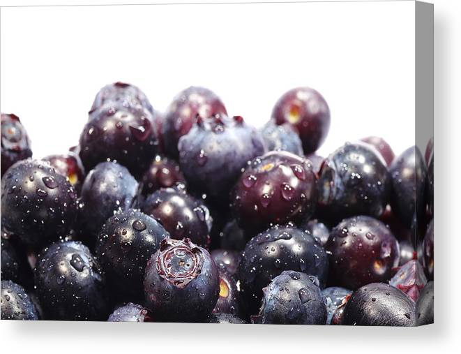 Heap Canvas Print featuring the photograph Blueberries by Pejft