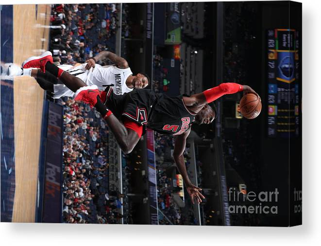 Nba Pro Basketball Canvas Print featuring the photograph Bobby Portis by Joe Murphy