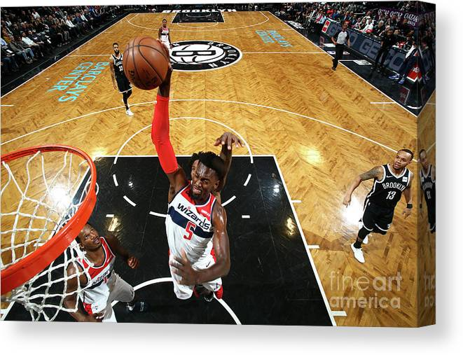 Nba Pro Basketball Canvas Print featuring the photograph Bobby Portis by Nathaniel S. Butler