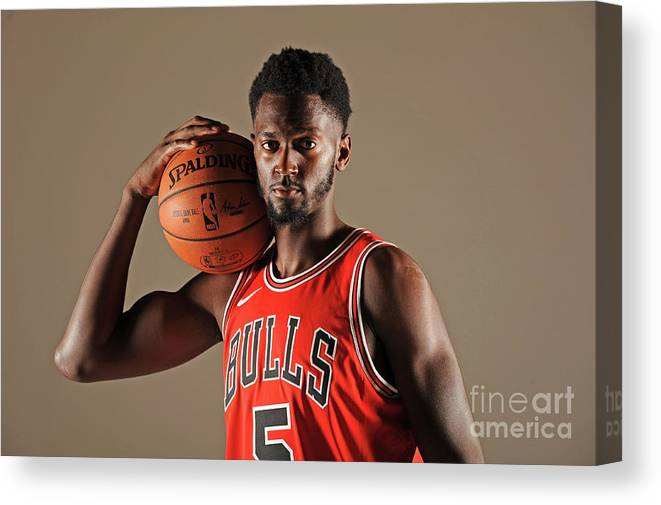 Media Day Canvas Print featuring the photograph Bobby Portis by Randy Belice