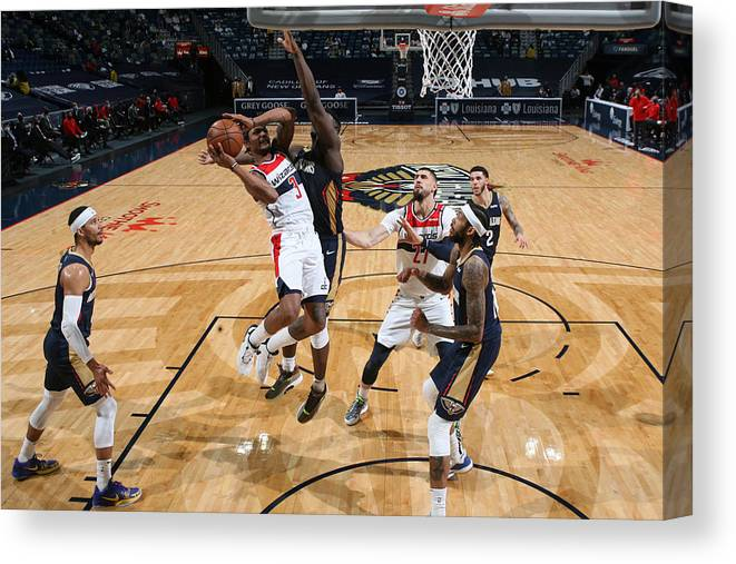 Smoothie King Center Canvas Print featuring the photograph Bradley Beal by Layne Murdoch Jr.