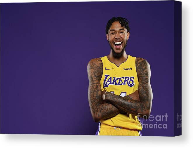 Media Day Canvas Print featuring the photograph Brandon Ingram by Aaron Poole