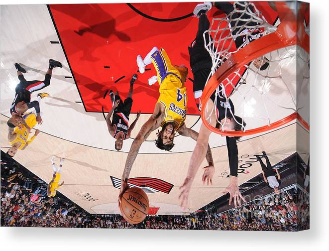 Nba Pro Basketball Canvas Print featuring the photograph Brandon Ingram by Sam Forencich
