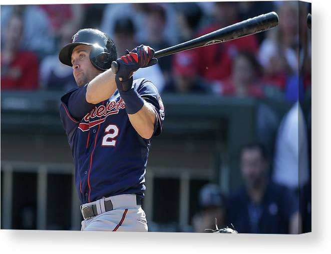 People Canvas Print featuring the photograph Brian Dozier by Mike Mcginnis