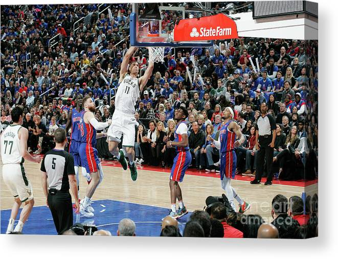 Playoffs Canvas Print featuring the photograph Brook Lopez by Brian Sevald