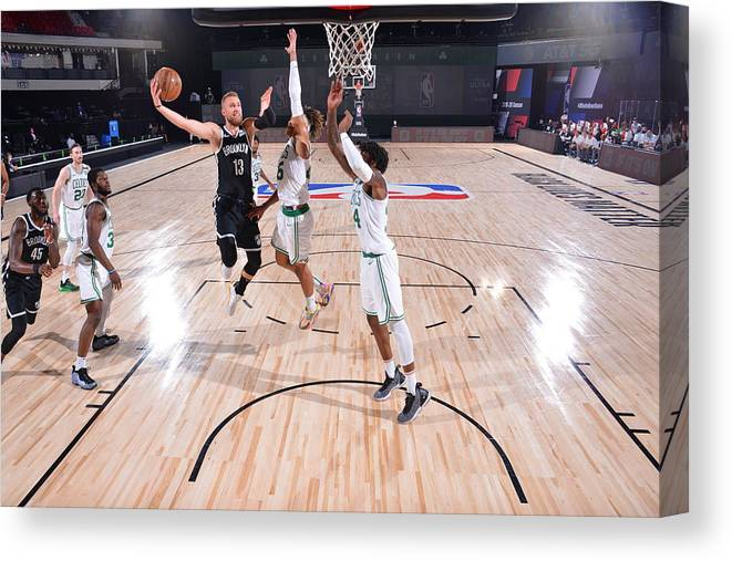 Nba Pro Basketball Canvas Print featuring the photograph Brooklyn Nets v Boston Celtics by Bill Baptist